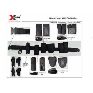 XP -PB03 XPRO POLICE BELT WITH MULTIPLE POUCHES , NYLON